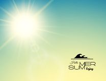 Summer background, summer sun with lens flare Stock Photo