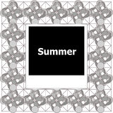 Summer background, summer words on empty photo frame, summer Royalty Free Stock Photos