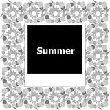 Summer background, summer words on empty photo frame, summer Stock Images