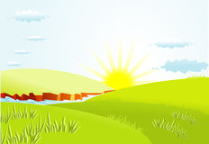 Summer background with sun Royalty Free Stock Photography