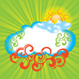 Summer background with sun. And cloud Stock Photography