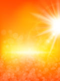 Summer background with a sun. EPS 10 Stock Photo