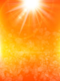 Summer background with a sun. EPS 10. Summer background with a summer sun burst with lens flare. EPS 10 vector file included Stock Photos
