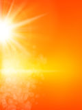 Summer background with a sun. EPS 10 Stock Images