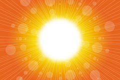 Summer background. Sun lens flare Royalty Free Stock Photo