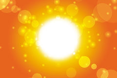 Summer background. Summer sun background lens flare illustration Royalty Free Stock Photography