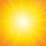 Summer background with sun and lens flare. Royalty Free Stock Photo