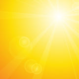 Summer background with sun and lens flare Stock Photography