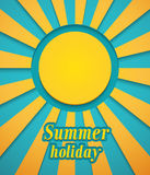 Summer background with sun. Royalty Free Stock Photo