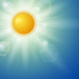 Summer background with a sun Royalty Free Stock Photography