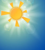 Summer background with a sun Royalty Free Stock Photos