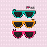 Summer background. Sunglasses. Vector illustration Royalty Free Stock Photo