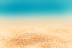 Summer Background - Sunny Beach with golden sand Stock Images