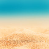 Summer Background - Sunny Beach with golden sand Stock Photo