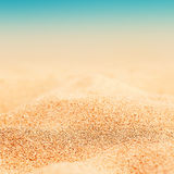 Summer Background - Sunny Beach with golden sand Stock Photos