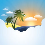 Summer Background Template Stock Image