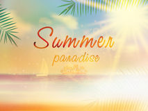 Summer background template with copyspace. Royalty Free Stock Images