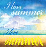 Summer background with text Royalty Free Stock Photography