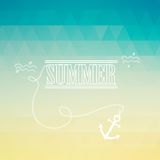 Summer background with text. Stock Photos