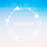 Summer background with text. Stock Images