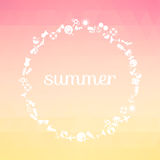 Summer background with text. stock image