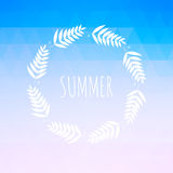 Summer background with text. Royalty Free Stock Image