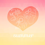 Summer background with text. Stock Photo
