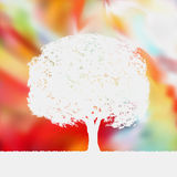 Summer background with tree Silhouette. EPS 8 Stock Images