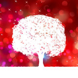 Summer background with tree Silhouette. EPS 8 Stock Image