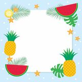 Summer Background with Tropical Fruit Royalty Free Stock Images