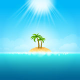 Summer Background - tropical Island Royalty Free Stock Images
