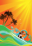 Summer background vector Royalty Free Stock Photography