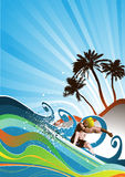 Summer background vector Stock Photos