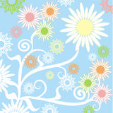 Summer background, vector Stock Photos