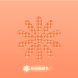 Summer background. Vector background with a daisy Stock Photo