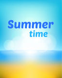 Summer background vector illustration Stock Photo
