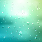 Summer background. water drops. Summer abstract background. water drops royalty free illustration