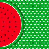 Summer background with watermelon fruit Royalty Free Stock Photography