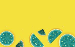 Summer Background from Watermelon. Vector Illustratio. N. EPS10 stock illustration