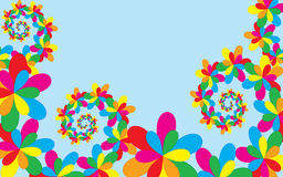 Summer background, whit colorful floral elements Royalty Free Stock Images