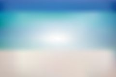 Summer background with white sand, sea and sky Royalty Free Stock Images