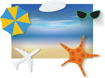 Summer background with white sand, sea and sky Royalty Free Stock Photography
