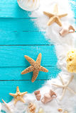 Summer background on wood Royalty Free Stock Photos