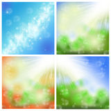 Summer backgrounds. Abstract summer spring green backgrounds with sun light Royalty Free Stock Images