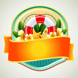 Summer Badge Buoy. Badge in summer theme Stock Images