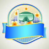 Summer Badge Google. Badge in summer theme with google. eps 10 file, with no gradient meshes,blends,opacity, stroke path,brushes.Also all elements grouped and stock illustration