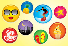 Summer Badges Stock Photo