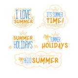 Summer Badges Collection Stock Photography