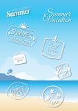 Summer badges Royalty Free Stock Photo
