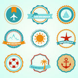 Summer badges Stock Photos